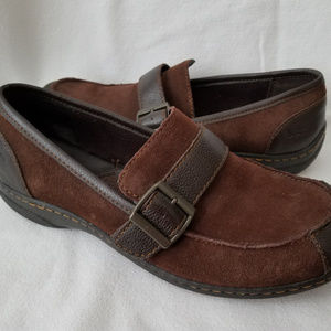 BOC Born Concept Womens Brown Suede Loafers Sz 9
